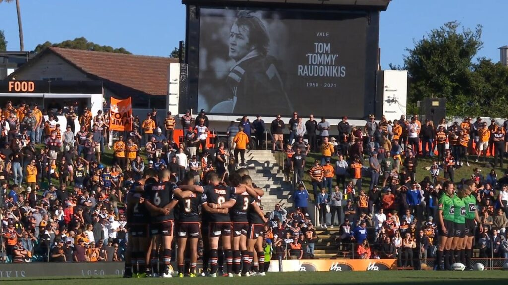 Leichhardt Oval was overloaded with Tigers fans out to pay tribute to Tommy Raudonikis.